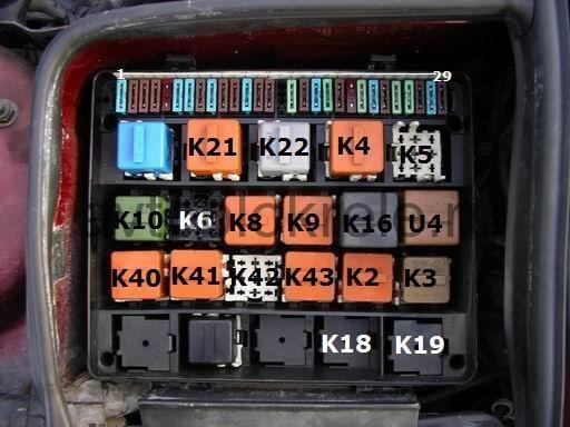 где находится датчик включения вентилятора BMW e46