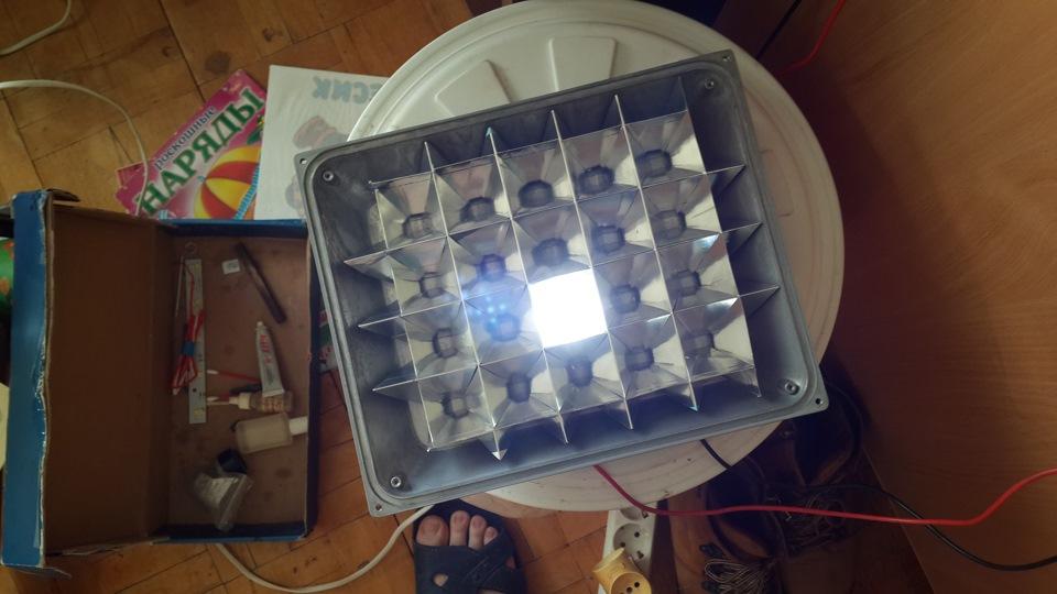 Как собрать светодиодный прожектор своими руками 70