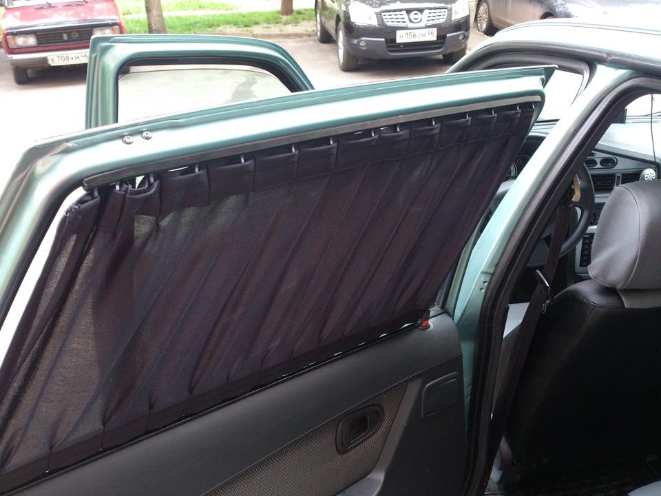Солнцезащитные шторки для автомобиля своими руками 125