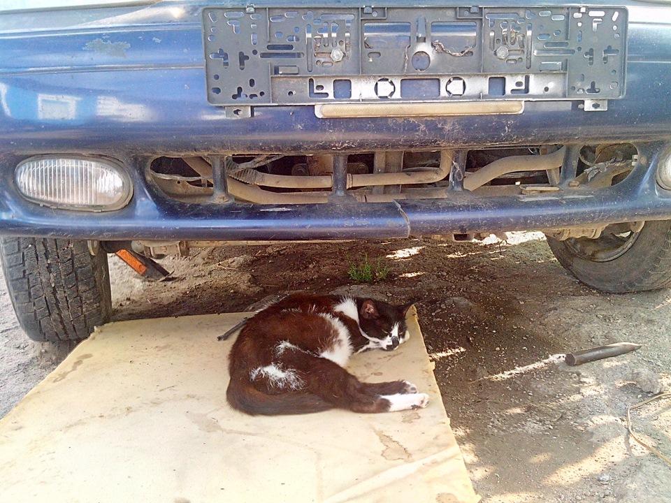 летом был ремонт двигателя