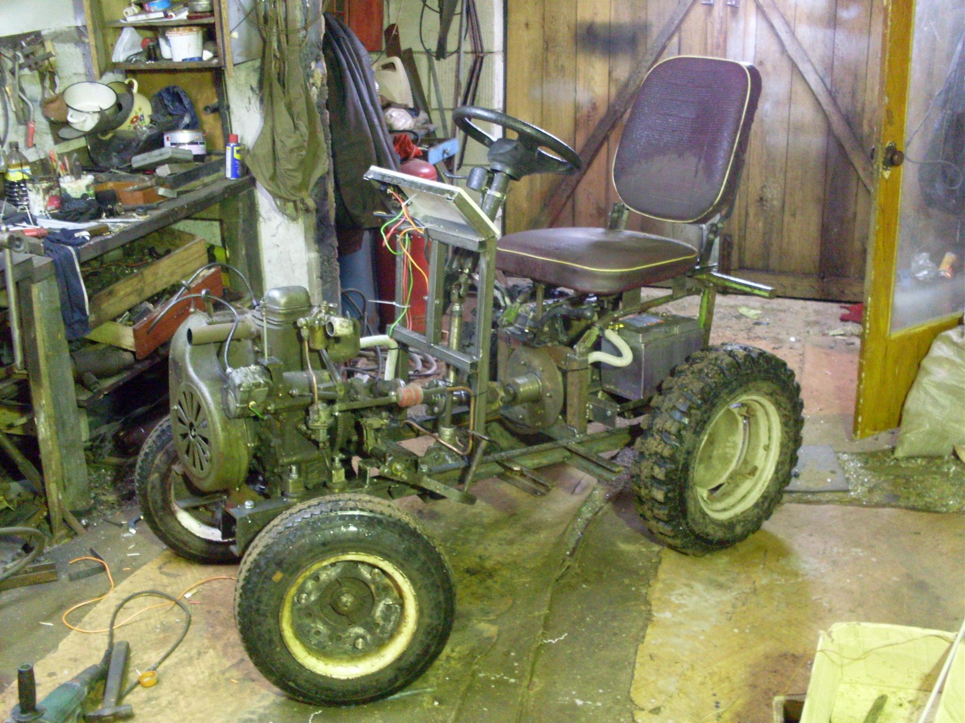 Трактор из мотоцикл своими руками