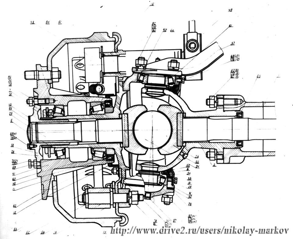 Привод передних колес КАЗ-4430