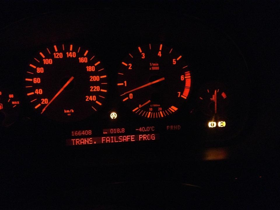 bmw кпп в аварийный режим встала - работает только 3 передача