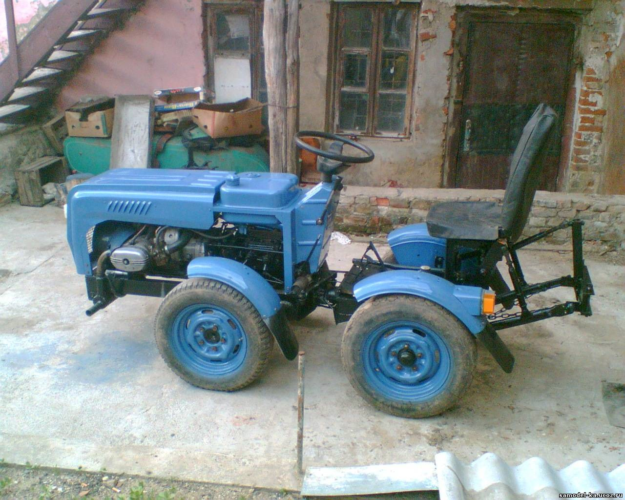 Самоделки своими руками мини трактора видео