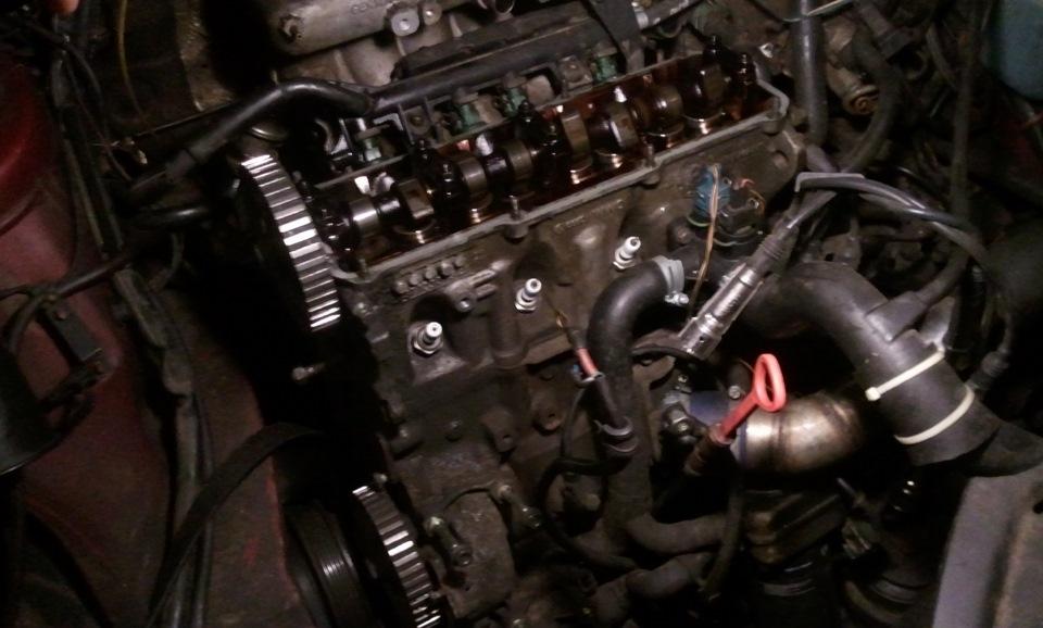 двигатель фольксваген 1,8 т снятие гбц