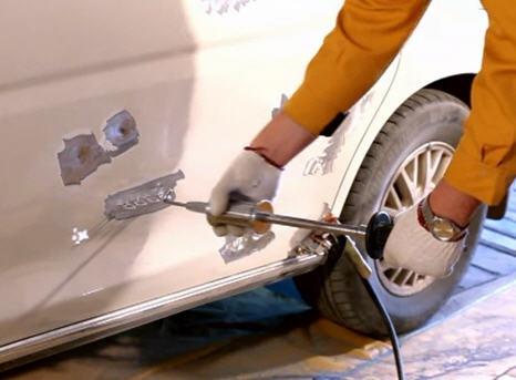 Приспособления для вытягивания вмятин кузова автомобилей своими руками 66