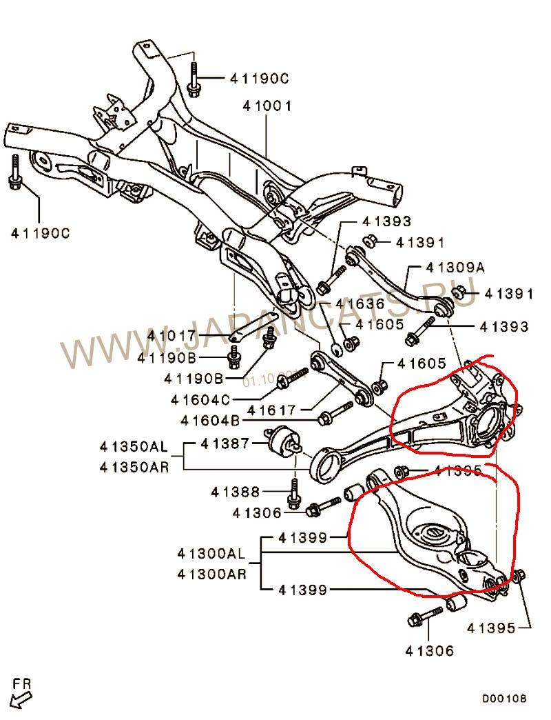 ходовая на мицубиши лансер 9 схема всей машины