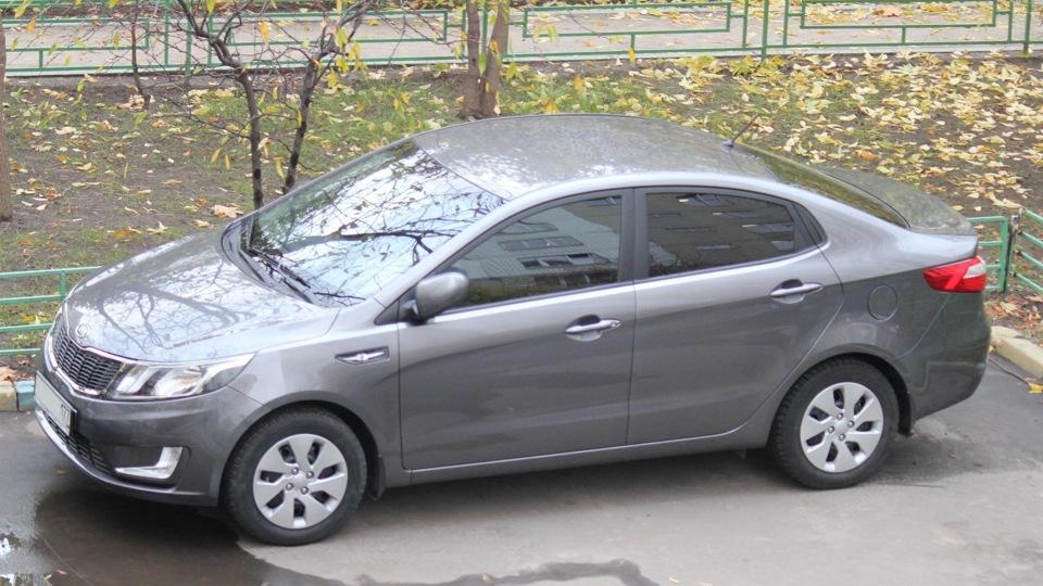 Киа рио серый карбон фото