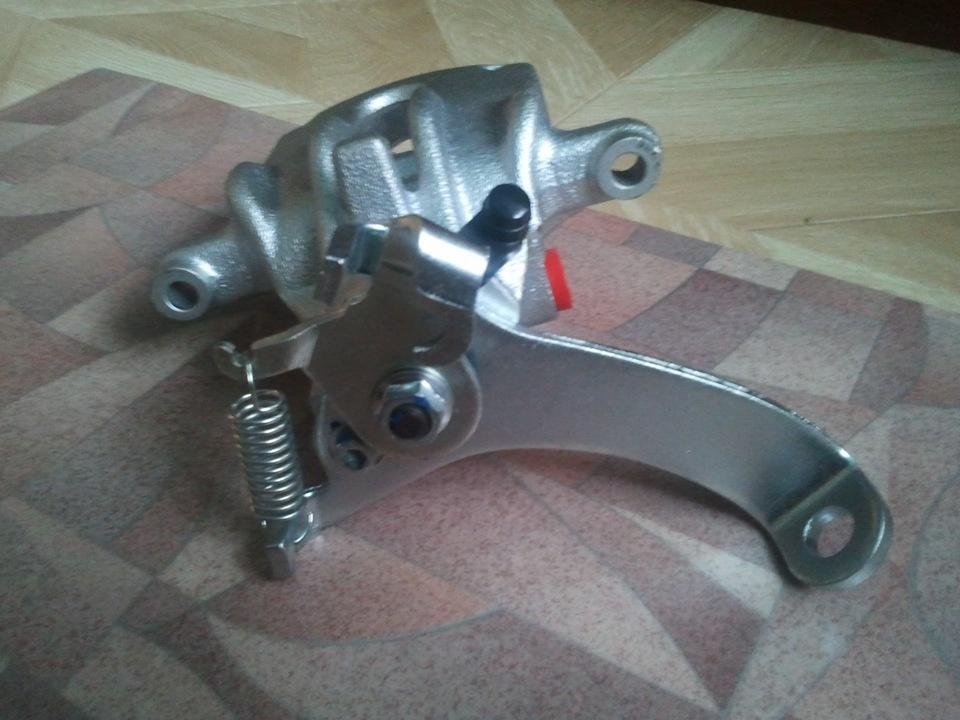 Механический ручник на задние дисковые тормоза своими руками