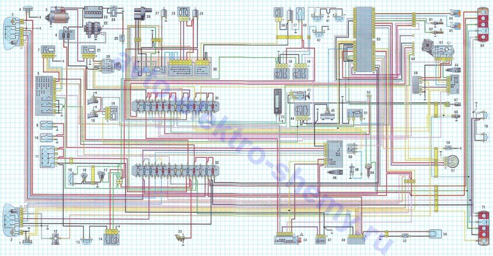 Электросхема Газель 33020