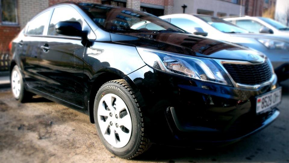 Киа рио черный седан фото