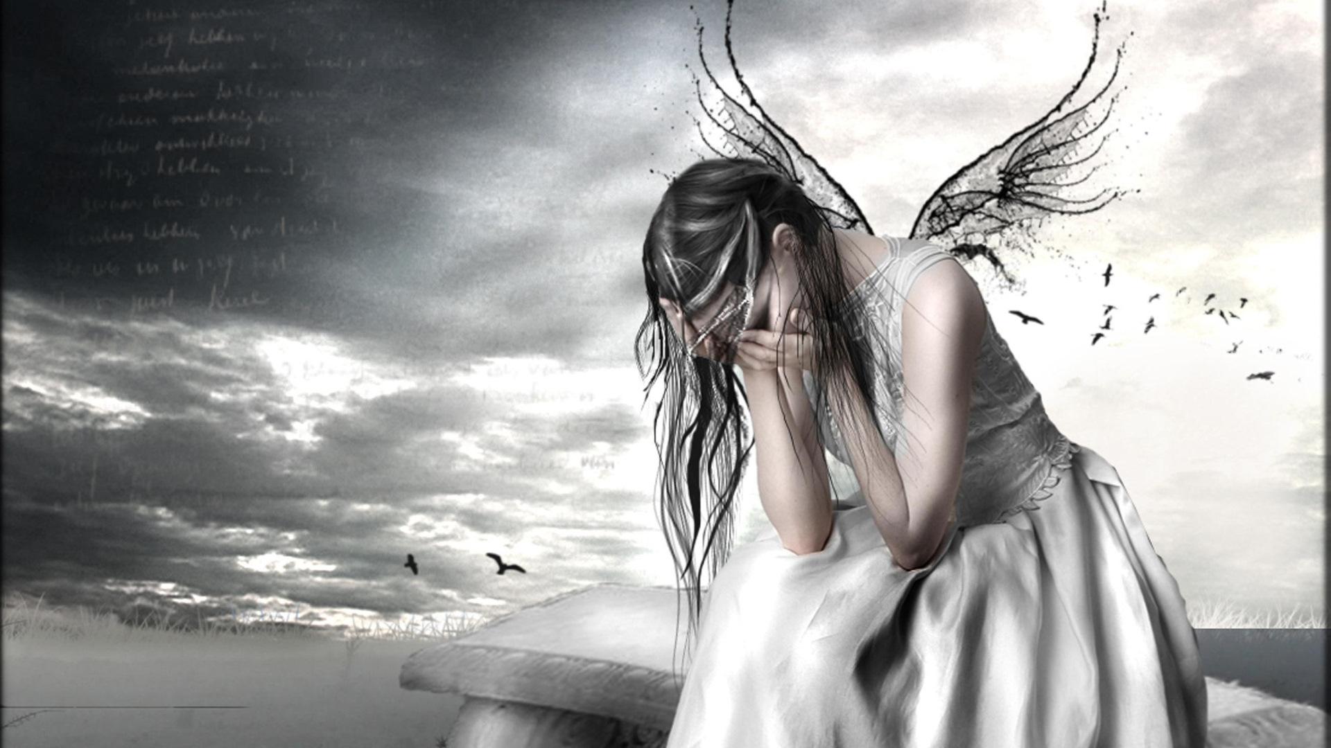такого грустные картинки ангелы на аву воротах тех