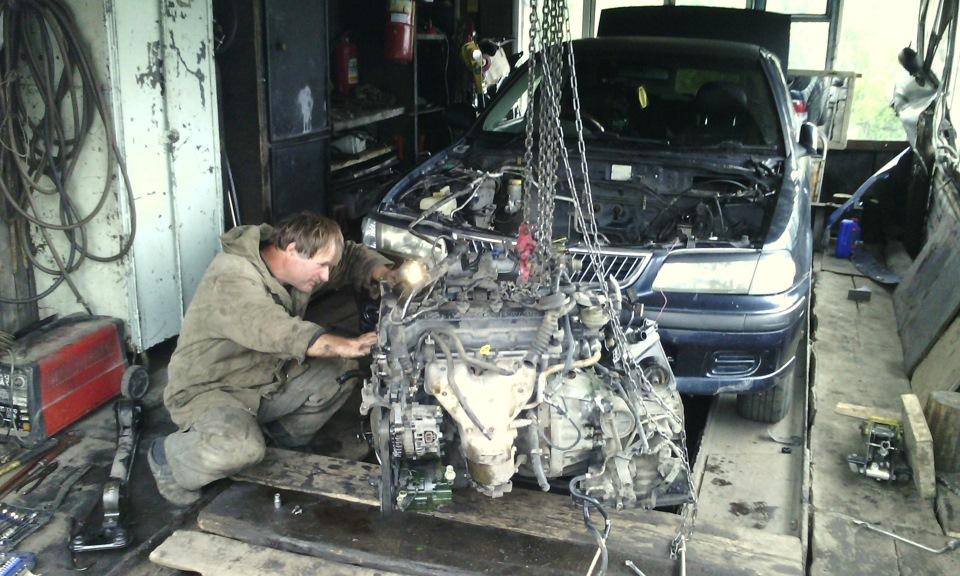 Замена двигателя ниссан своими руками 46
