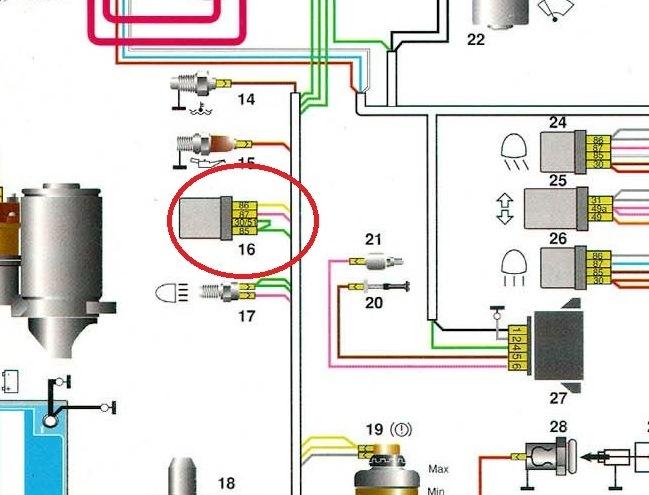 с генератору акамулятора к схема
