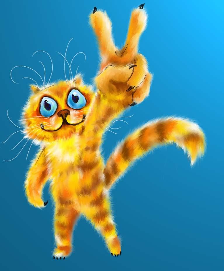 Открытка улыбнись котик