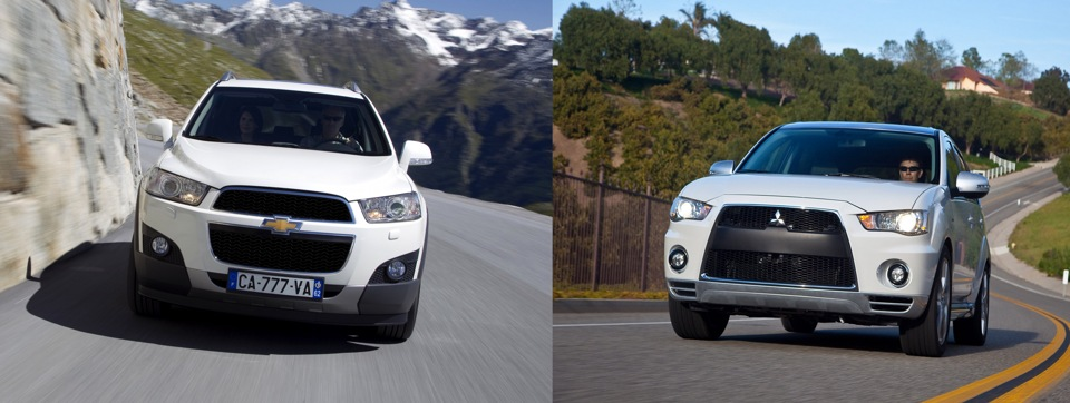 mitsubishi outlander vs chevrolet captiva