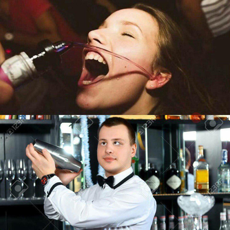 Смешные картинки бармена композиция