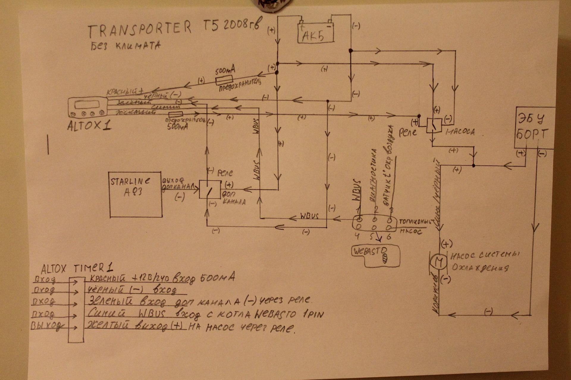 схема догревателя транспортер