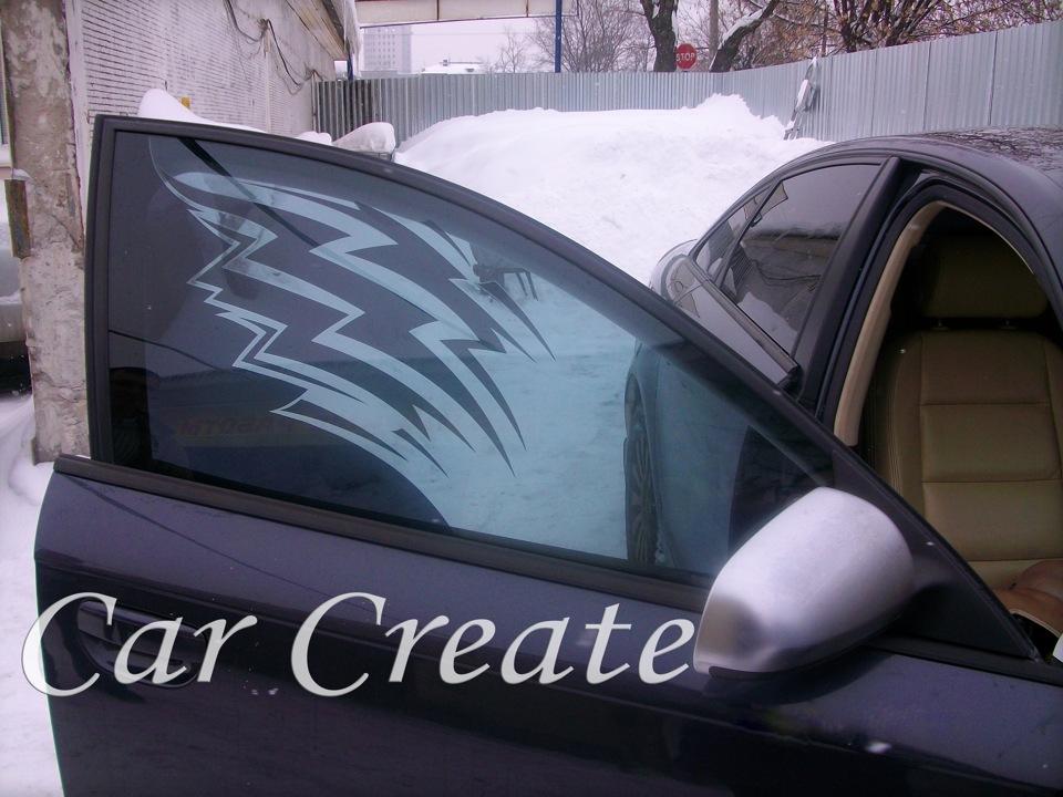Арт тонировка стекол автомобиля фото