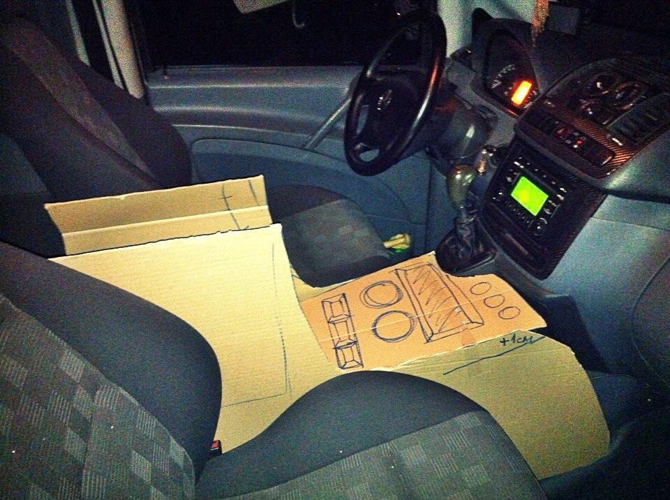Подлокотник на машину своими руками 62