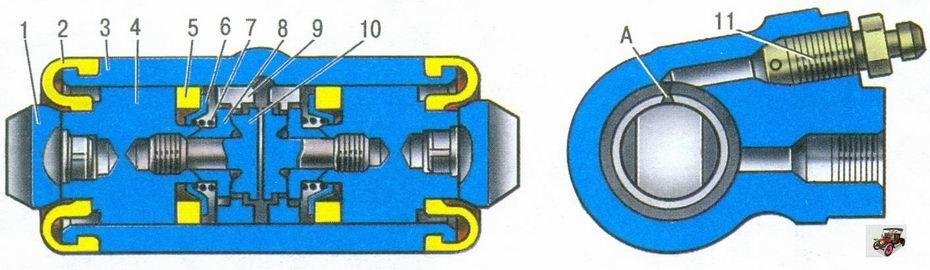 Ремонт заднего тормозного цилиндра ваз 2109
