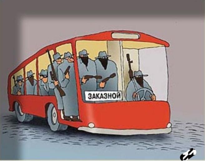 Прикольные рисунки с автобусами