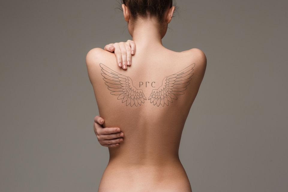 Download naked woman mockup
