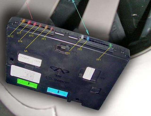 D4AAAgFyP2A 960 - Чери фора предохранитель вентилятора
