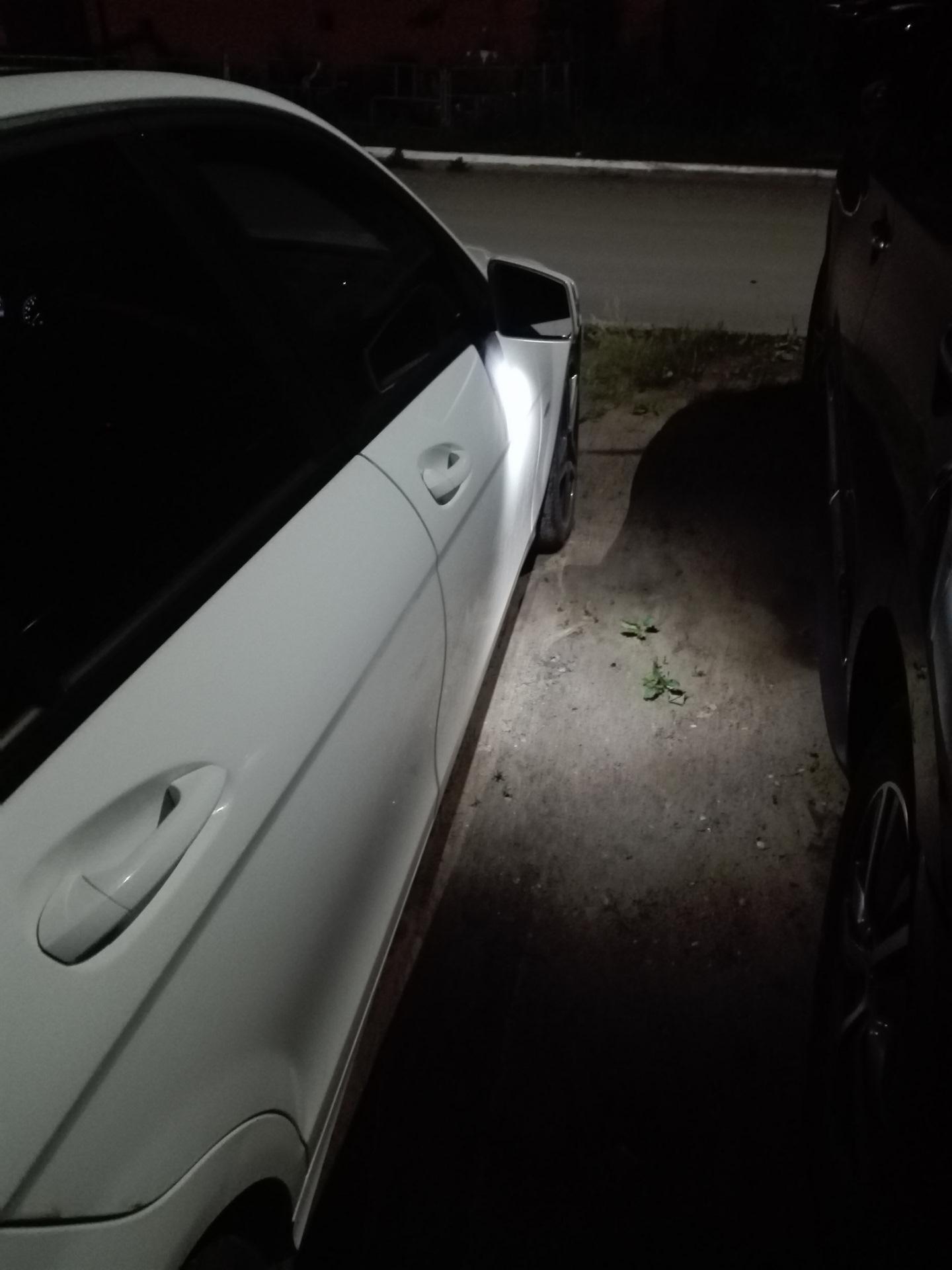 Подсветка зеркал + Launch кодирование — Mercedes-Benz C-class, 1 6 л