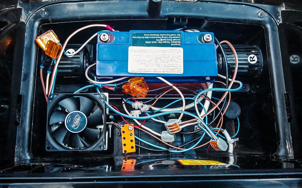 замена электродвигателя 12V 45W на 12V 170W