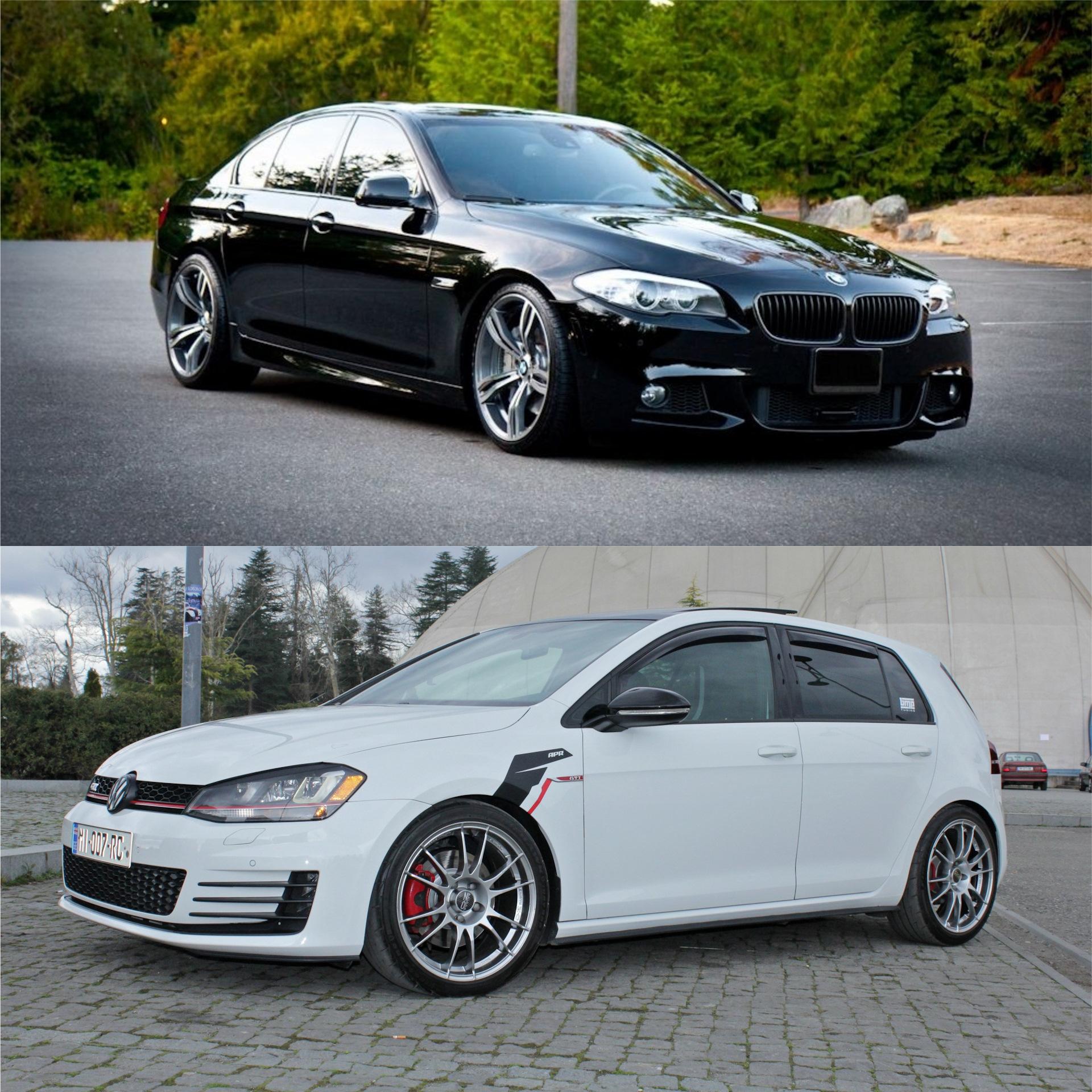 VW MK7 GTI APR IS38 VS BMW F10 550 4 4 Biturbo — Volkswagen Golf GTI