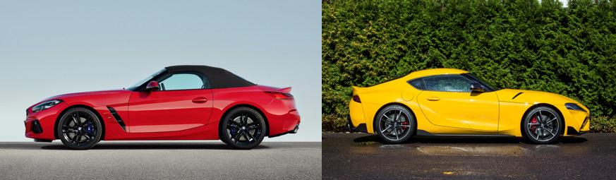 Toyota Supra и бмв