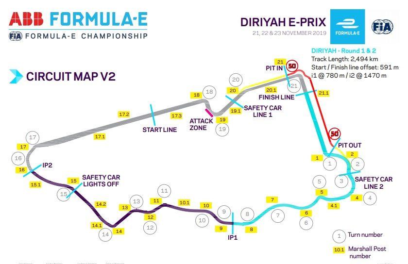 Два первых спаренных этапа Формулы Е прошли в древней столице Саудовской Аравии городе Эд-Диръия