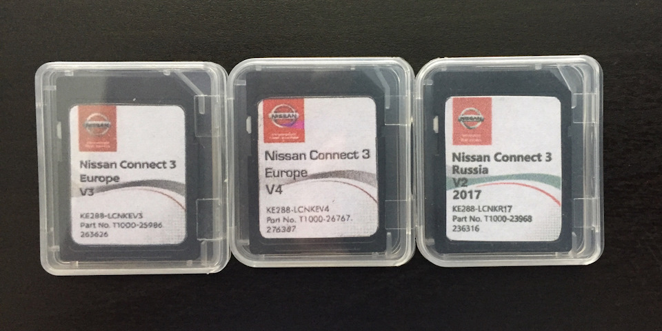 navigation maps for Nissan Connect 3 (LCN2) Russia and