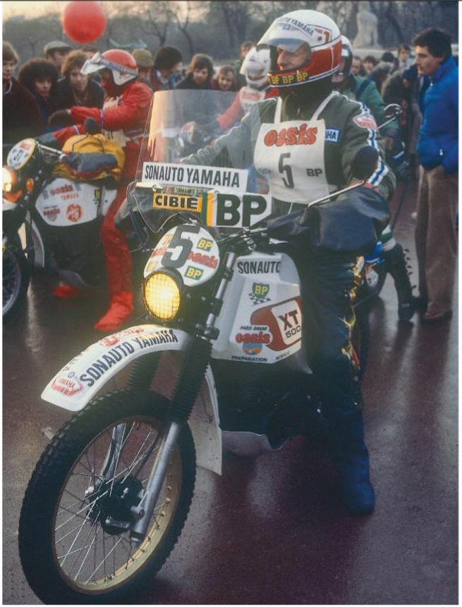 Глава Yamaha France Жан-Клод Оливье на старте в Париже (1978 год)