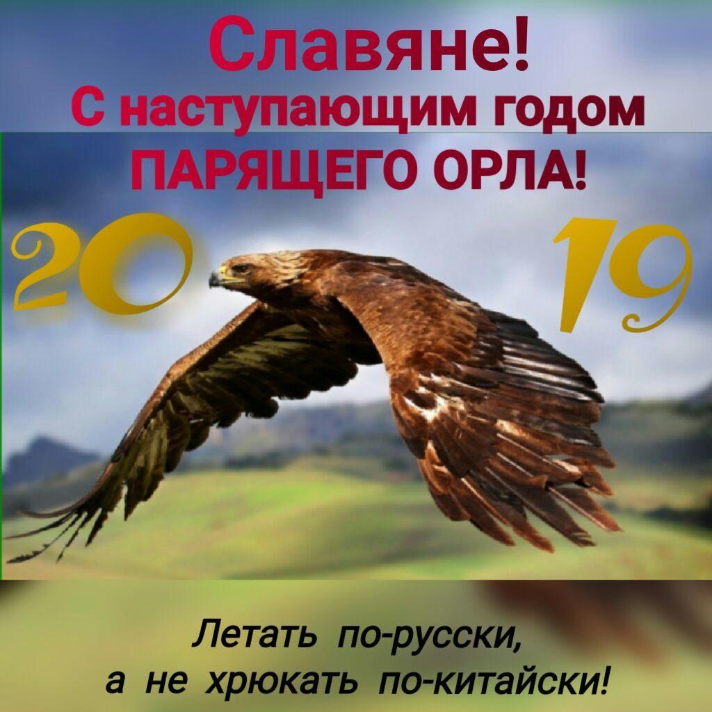 Открытка поздравление с годом парящего орла
