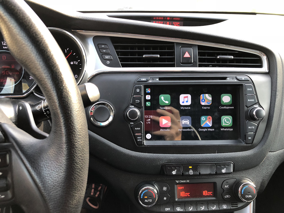 #35 CarPlay AndroidAuto в Android магнитоле. — KIA Ceed SW, 1.6 л., 2016  года на DRIVE2
