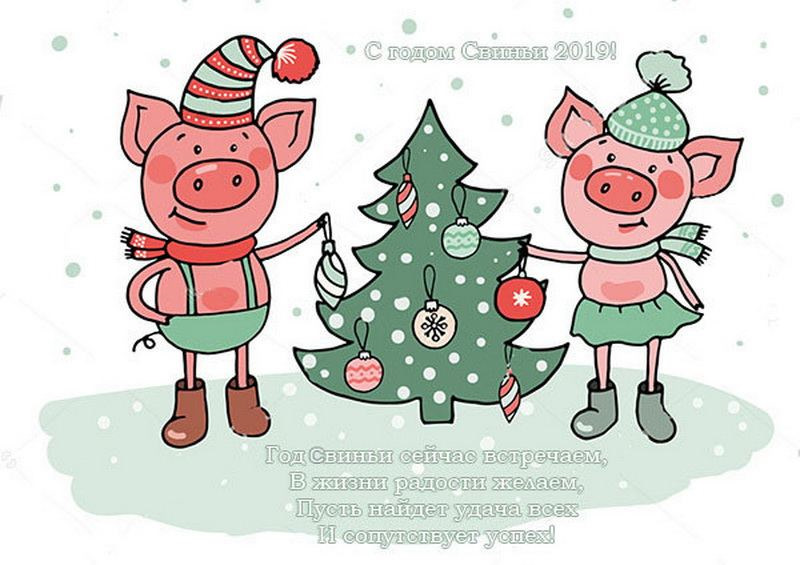 поздравления с новым годом коллег со свиньей бурению скважин