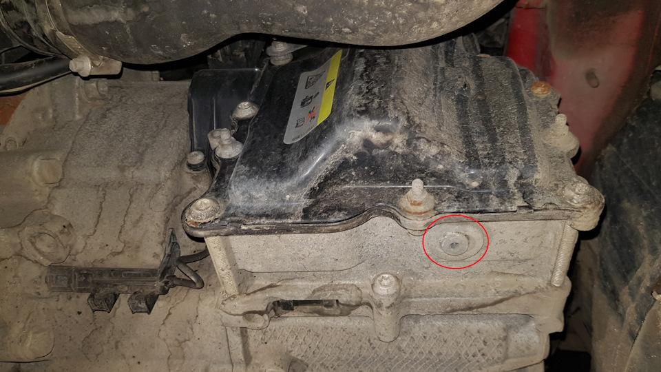 Oil change in mechatronics DSG 7 DQ200, THEN  — logbook SEAT