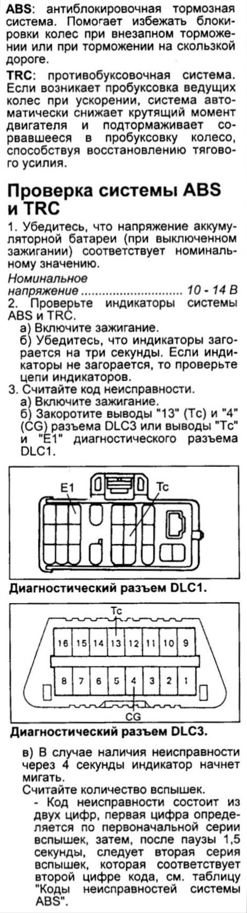 самодиагностика trc toyota