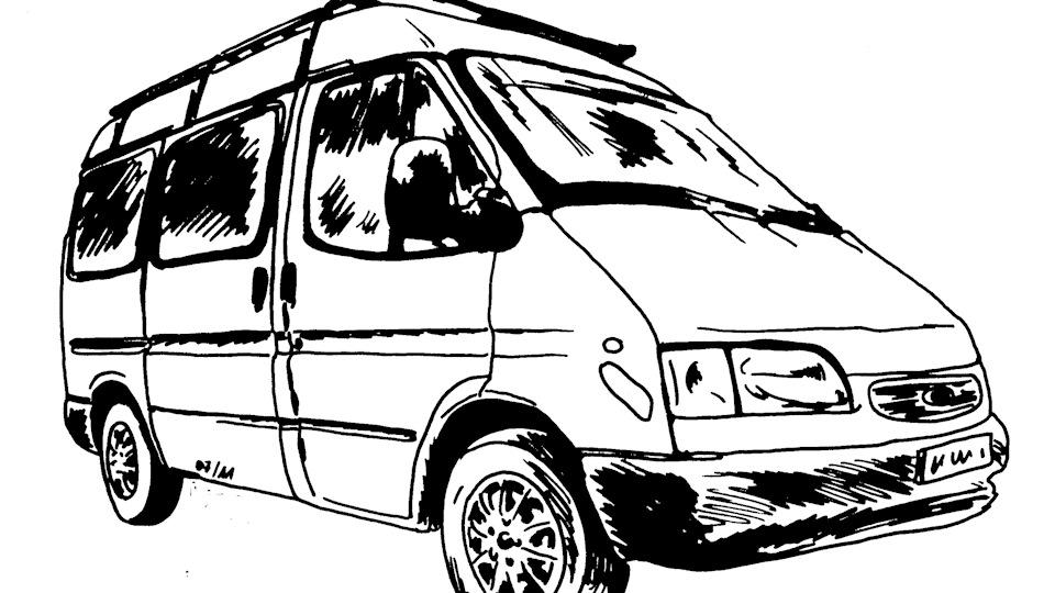 разновидность микроавтобус картинка рисунок уже говорили вами