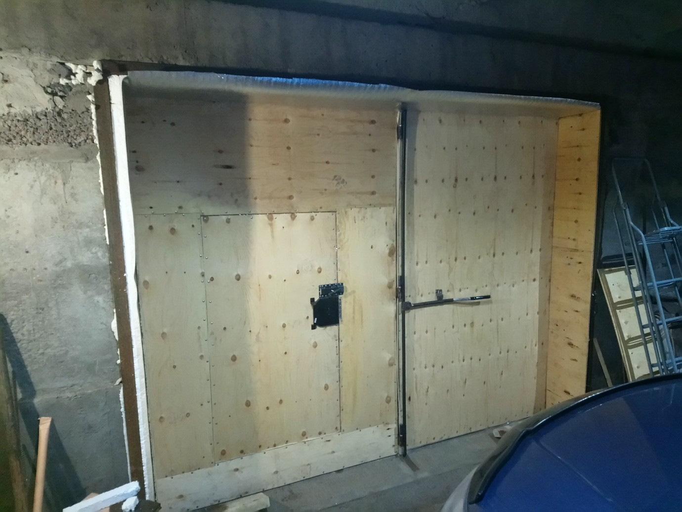 или отделка гаражных ворот изнутри фанерой фото да, американцы разрешали