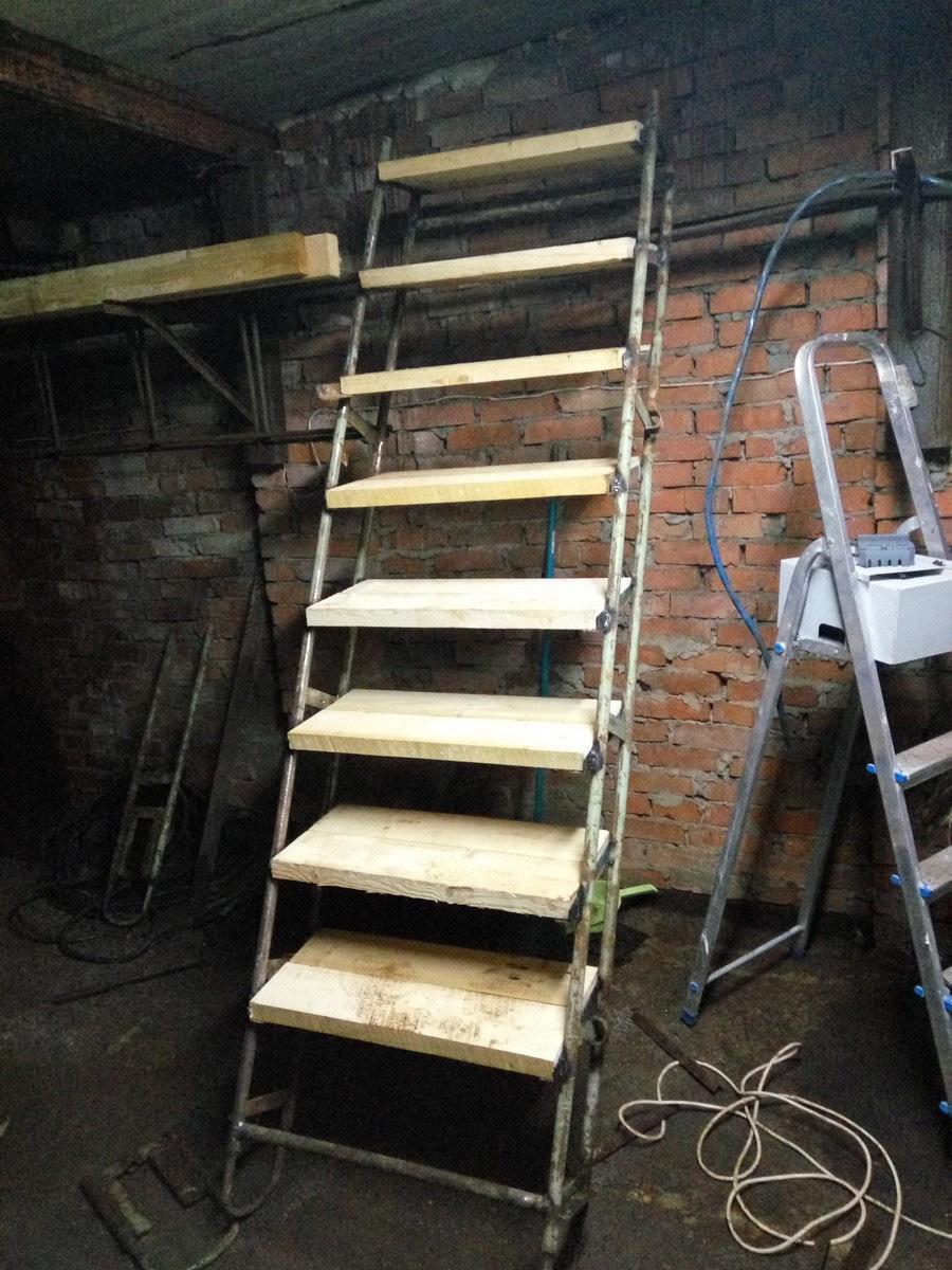 Гараж лестница в подвал фото