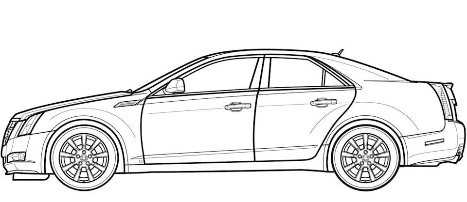 рисунок автомобиля сбоку играть