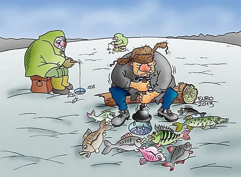 Дню победы, смешные картинки про рыбалку зимнюю