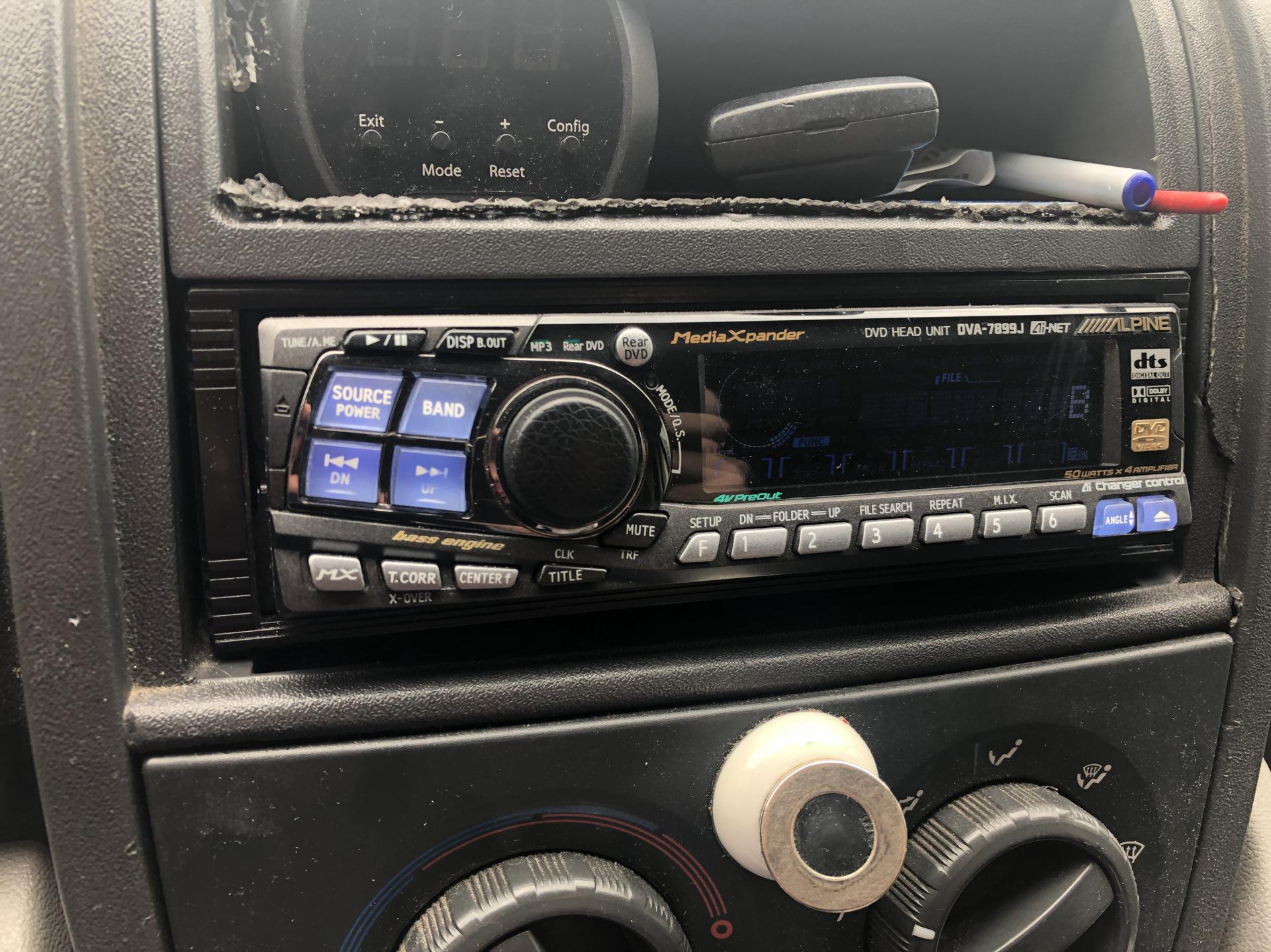 установка автомагнитолы и акустики на citroen jumper