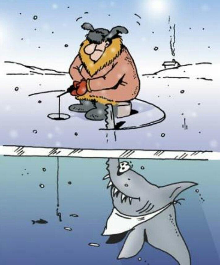 Для, смешная картинка про зимнюю рыбалку