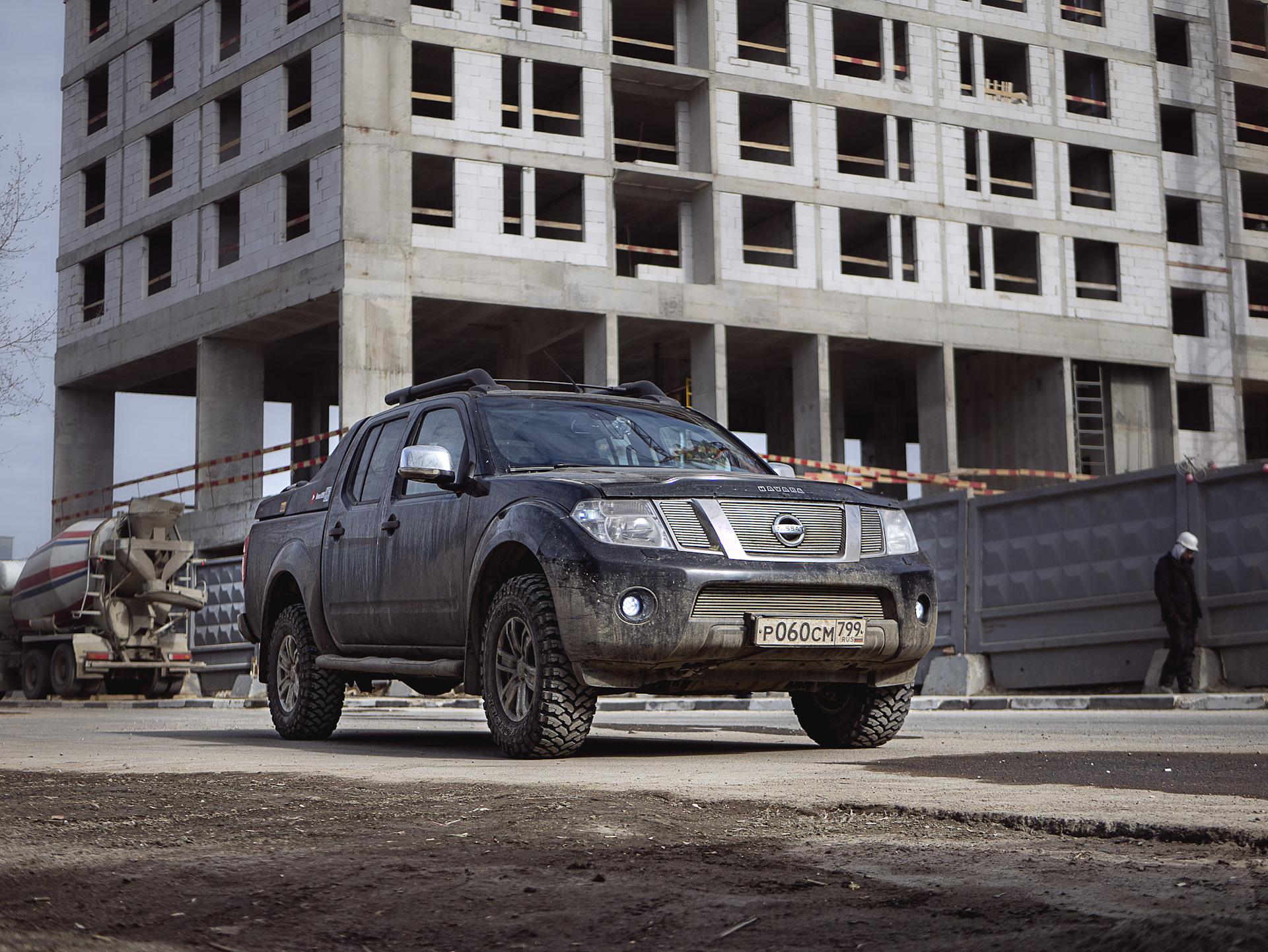 Тюнинг подвески и лебедка на Nissan Navara D40