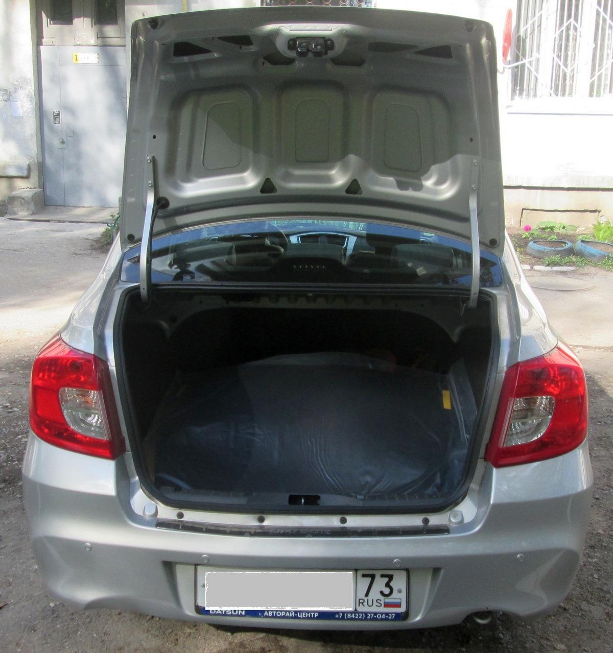 для возможности багажника датсун он до фото лето