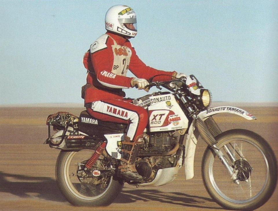 Жиль Комте на Yamaha XT500
